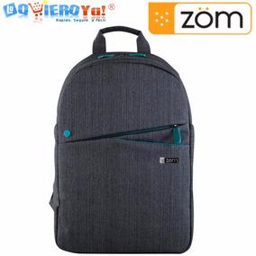 Mochila Zom Zb-310j Notebook H/ 15.6 Gris Lino Impermeable