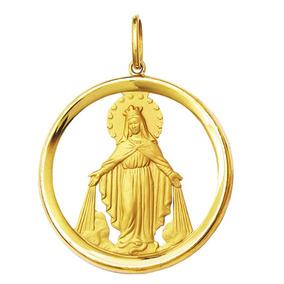 Pingente Ouro 18k Nossa Senhora Das Graças. Lindo - Joias e ... ea6cde7536