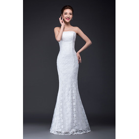 Vestido De Noiva Todo Rendado Modelo Sereia Lindo