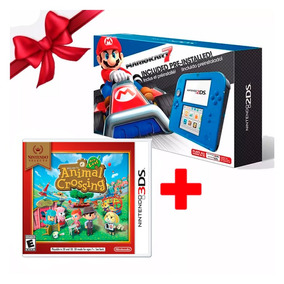 Consola Nintendo 2ds Mario Kart 7 + Juego Animal Crossing