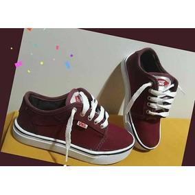 cbe65dd7286dc Zapatillas Vans Color Bordó para Niños en Mercado Libre Argentina