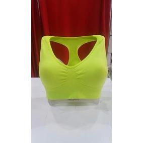 Top Corpiño Deportivo Running Lycra Importado Fluo Art 211