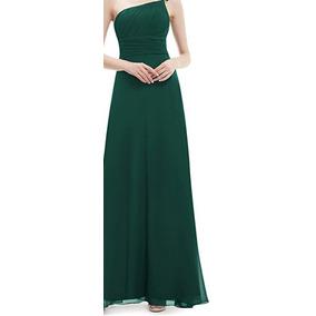 0935c9f112 Vestido Verde Seco Chifon Talle - Vestidos Largos en Mercado Libre ...