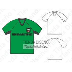 Moldes Patrones Remera Camiseta Futbol Hombre Talle S Al 2xl
