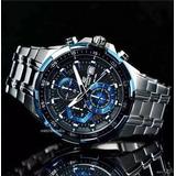 Reloj Casio Edifice Ef 539 - Negro Y Azul - Original