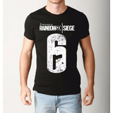 Camiseta Rainbow Six Siege Camisa Playstation Ps4 Game Jogo