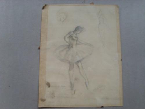 Dibujo A Lapiz Bailarina Esta Firmado Ano 42 680 00 En Mercado Libre