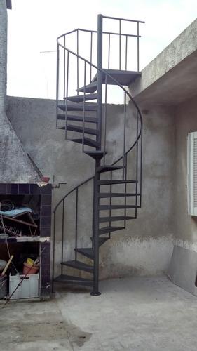 Escalera Caracol Hasta 260cm Altura Escalones 50cm Chapa 18 ...