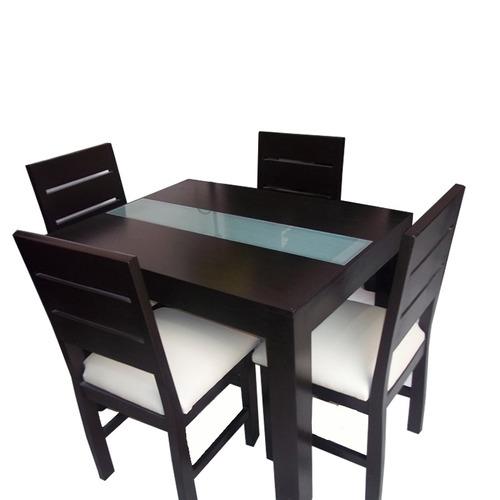 Mesa Moderna Para Cocina Y Comedor Con 4 Sillas - $ 21.150,00 en ...