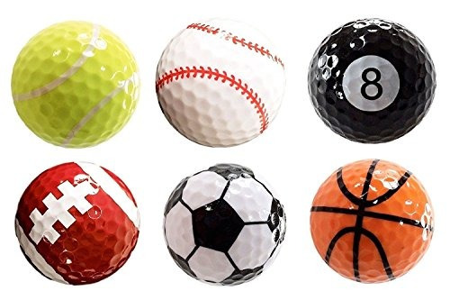 d91e444363730 Surtido De 6 Pcs Pelotas De Golf (baloncesto
