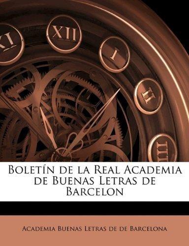 2784451b31 Bolet N De La Real Academia De Buenas Letras De Barcelo