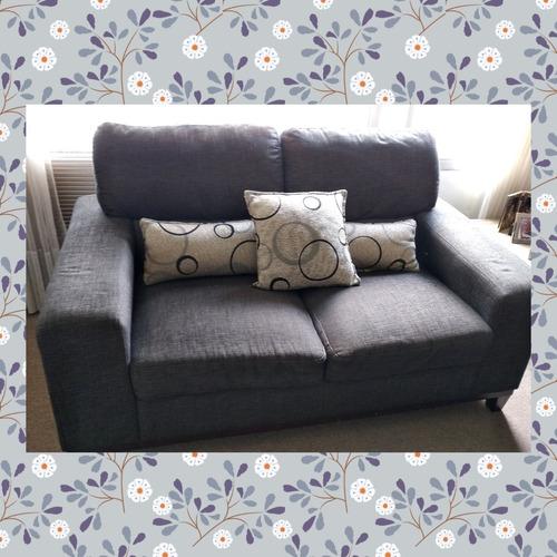 Sofas Modernos Tela Gris 4 900 00 En Mercado Libre