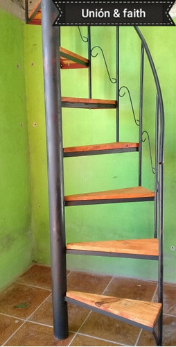 Escaleras Caracol 8500 Hierro Y Madera Hasta 3mt - $ 850,00 en ...
