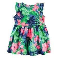 Carter's Vestido Floreado 2 Piezas Talle 9 Meses -   400 82df11734aeb