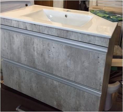 Muebles A Medida Baños Y Cocinas.. Color Gris Concreto 80x46 - U$S ...