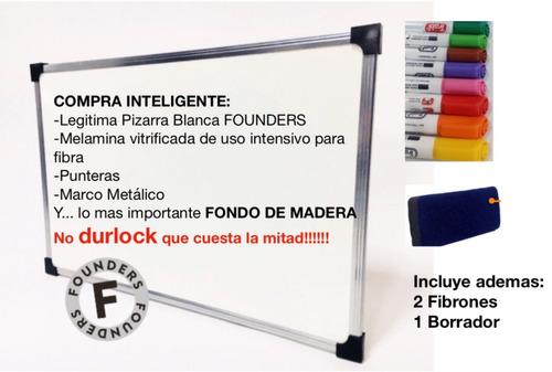 Pizarra Blanca 80x120 Cm Bordemetalico+borrador+2 Fibrones - $ 735 ...