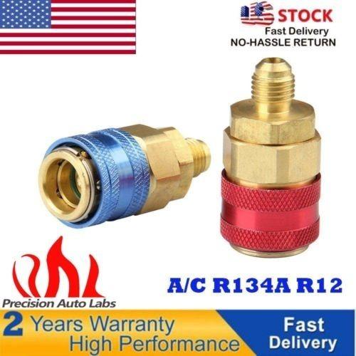 R134A R12 coche a//c Aire Acondicionado Refrigeración Acoplador Adaptador De Conector Kit