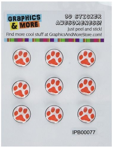 accesorio auricular graphics and more paw print red home