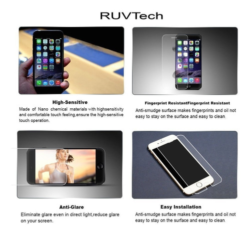 accesorio sony psp ruvtech iphone6plus hd clear tempered