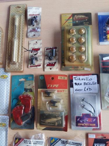accesorios tunning varios led, etc, etc.... lote de 31 unid.
