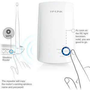 access point  |  repetidor  | tp linl tl-wr850re con wps