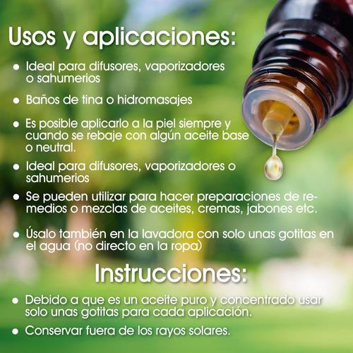 aceite esencial aromaterapia / difusor, varios aromas 10 ml.