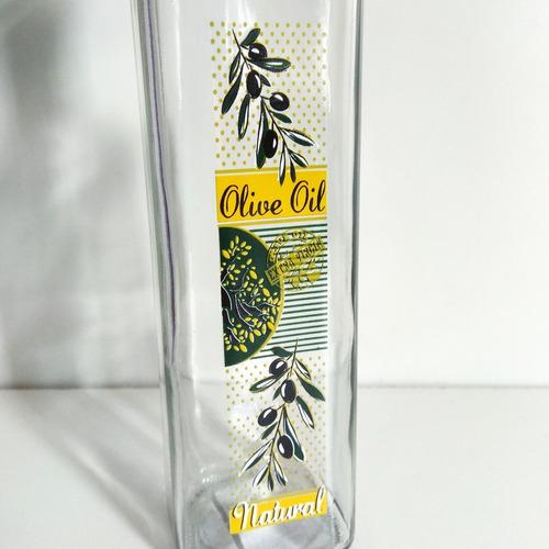 aceitera en vidrio olive oil 500 ml diseño