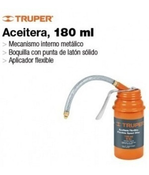 aceitera flexible 180ml truper  acef-180 herracor