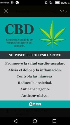 aceites de cannabis y cremas.