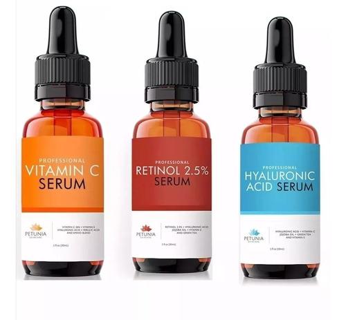 ácido hialuronico + vitamina c + retinol.... trío petunia