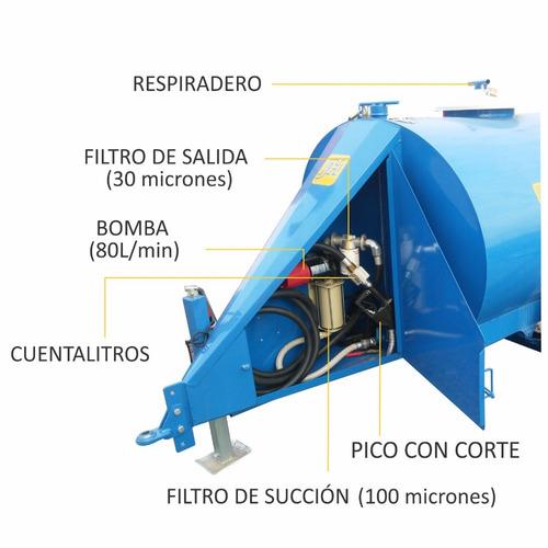 acoplado cisterna tanque acero agua o combustible 3000lts jh