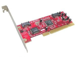 adapt pci serial ata sata 2 ports chip sil3512 raid w. vista