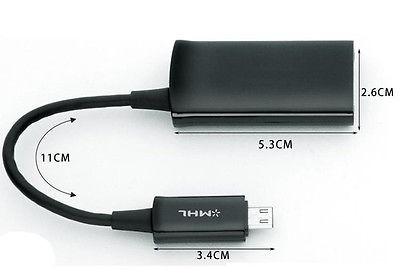 adaptador cable hdmi mhl para samsung para galaxy tab 3 10.1