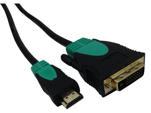 adaptador dvi digital a hdmi gold premium. lcd, led, cañon