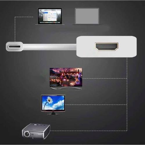 adaptador usb tipo c a hdmi para macbook y laptops