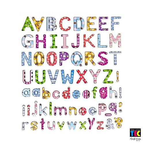 adesivo artesanal alfabeto estampado 6838 toke