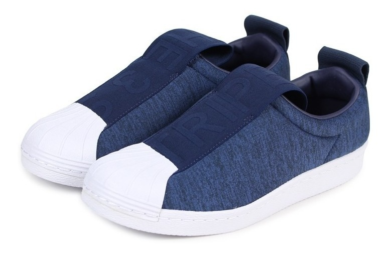 new concept 61403 d4823 adidas Superstar Slip On Azul Jaspeado Originals X Pedido