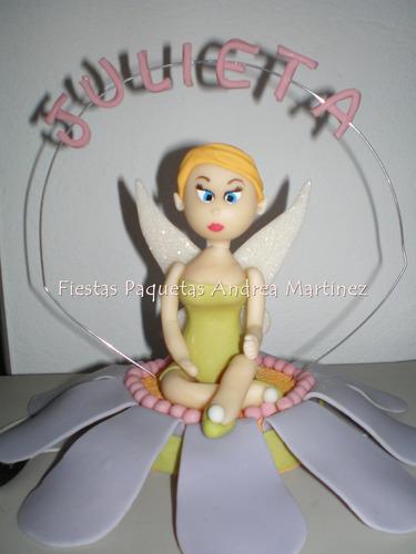 adorno de tortas tinkerbell campanita