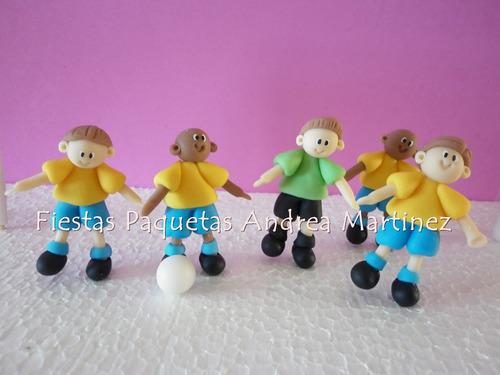 adornos de torta jugadores de futbol