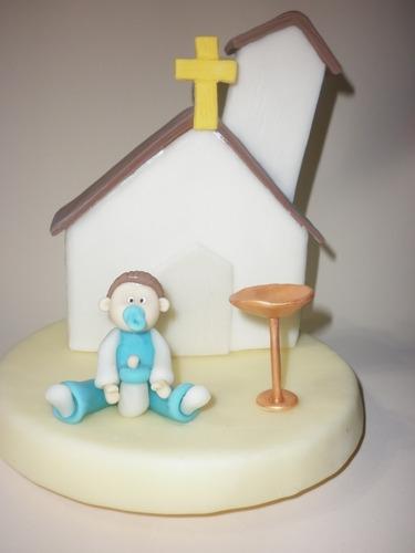 adornos para tortas bautismo o comunion