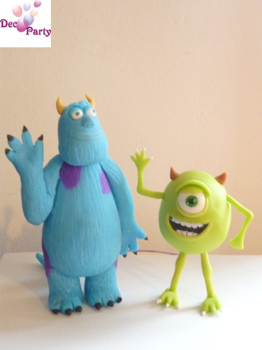 adornos para tortas. monster inc. mike y sullivan