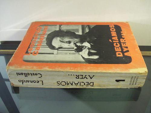 adp deciamos ayer leonardo castellani / ed sudestada 1968