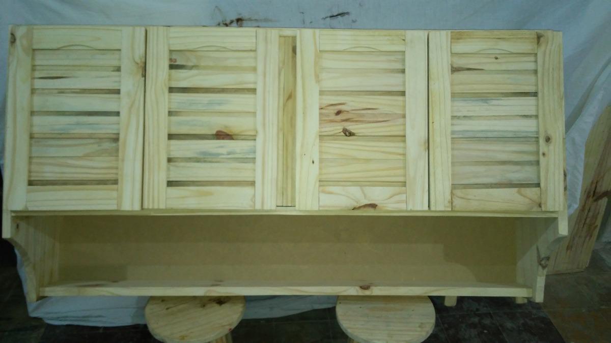 Aereo de cocina alacena mueble madera maciza 4 pta colgar - Muebles de cocina madera maciza ...