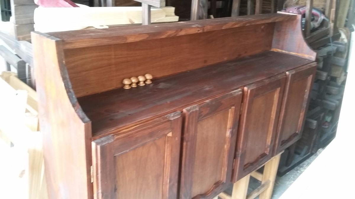 Aereo mueble cocina madera maciza placard en for Mueble aereo cocina uruguay