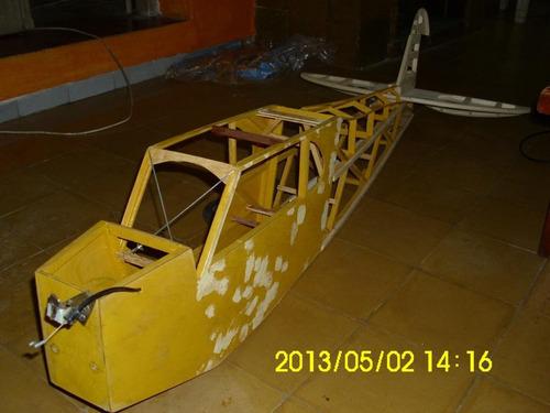 aeromodelo a terminar, piper j3 cub, 2.60 mts de ála.
