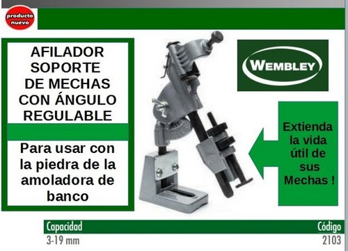 afilador soporte de mechas 3 a 19mm angulo regulable