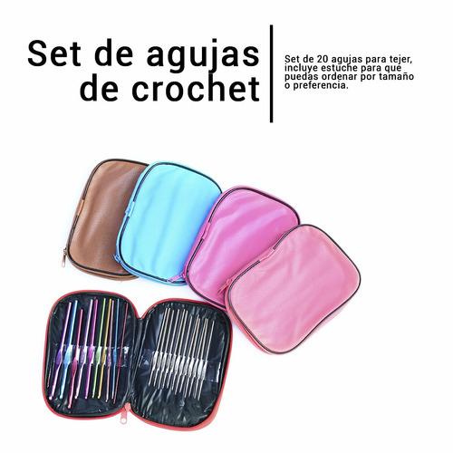 agujas de crochet para tejer set 22 piezas
