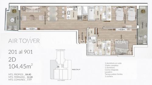 air tower - apto de 2 dorm y 2 baños en pocitos