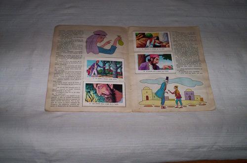 aladino y la lampara maravillosa album de cromos 1970..