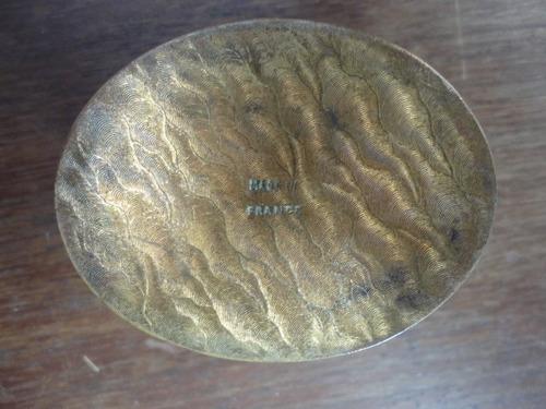alagero antiguo pastillero de bronce inpecable envios